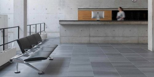 Grey commercial tiles