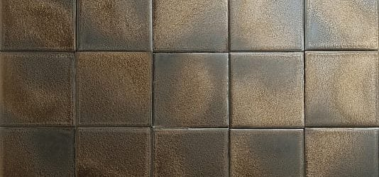 Bronze glazed tiles