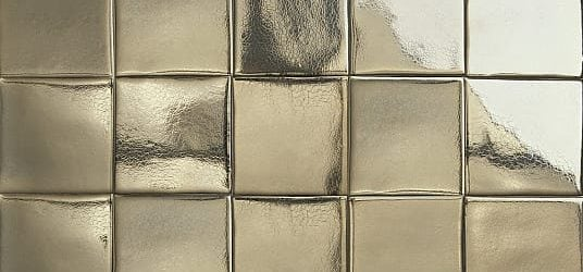 Dark gold glazed tiles