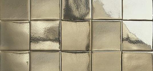 Dark gold glazed tiles