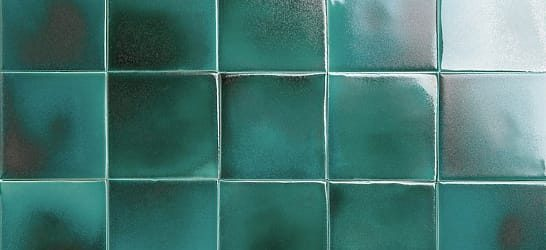 emerald glazed tiles