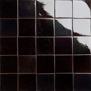 glossy dark brown tortoiseshell glazed tiles
