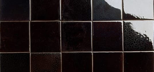 glossy dark brown tortoiseshell glazed tiles