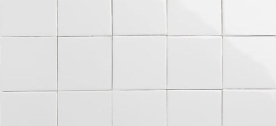 Glossy white glazed tiles