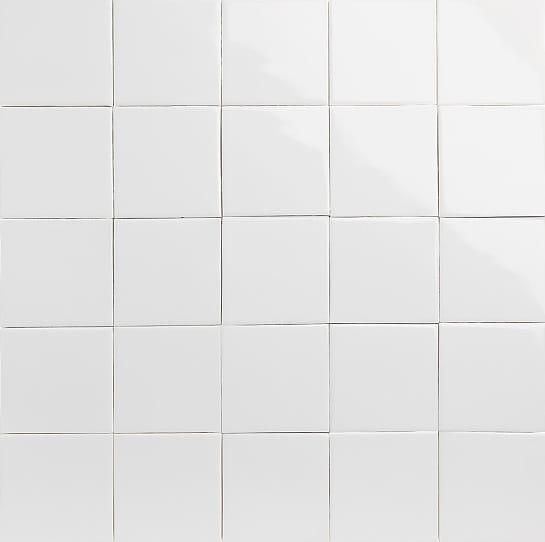 Glossy white glazed tiles