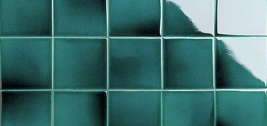 green blue with crackle glazed tiles