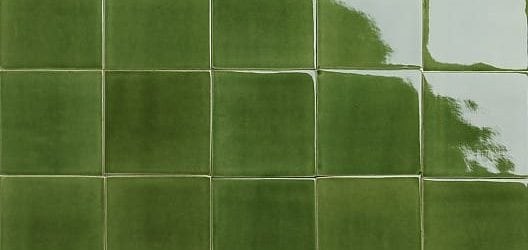 Green glossy glazed tiles