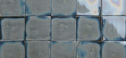 Grey blue glazed tiles