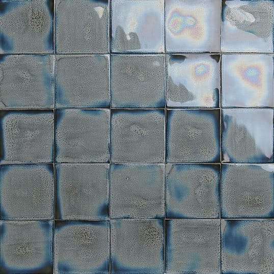 Grey blue glazed tiles