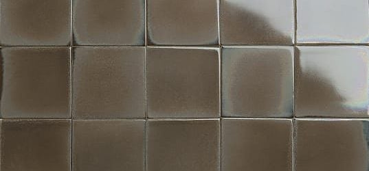 Iradescent taupe glazed tiles
