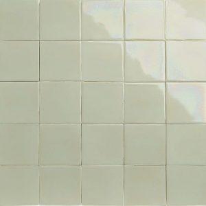 iridescent butter yellow glazed tiles