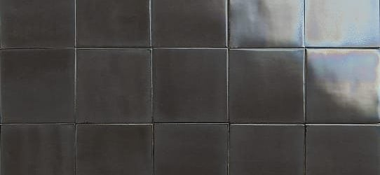 iridescent dark brown glazed tiles