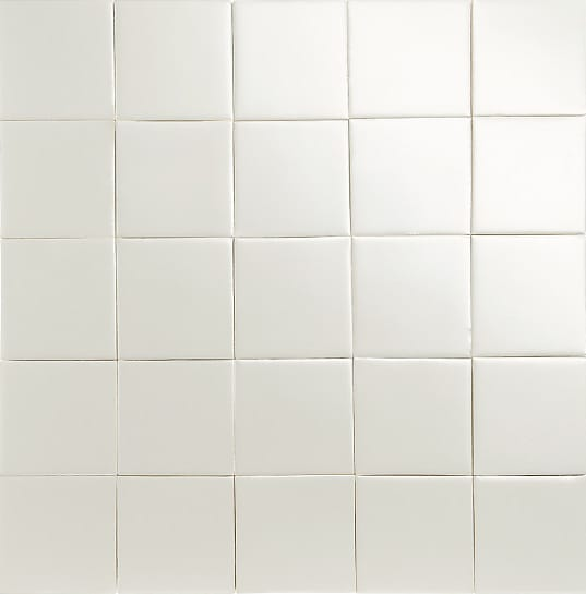 Iridescent ivory glazed tiles