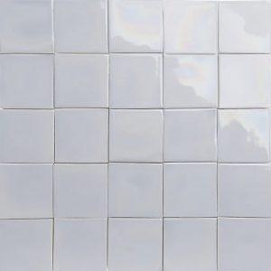 iridescent light blue glazed tiles