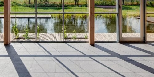 Sustainably manufactured tiles