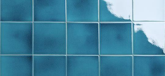 transparent turquoise glazed tiles