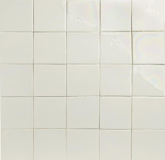 White glazed tiles