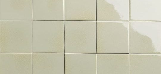 White glazed tiles