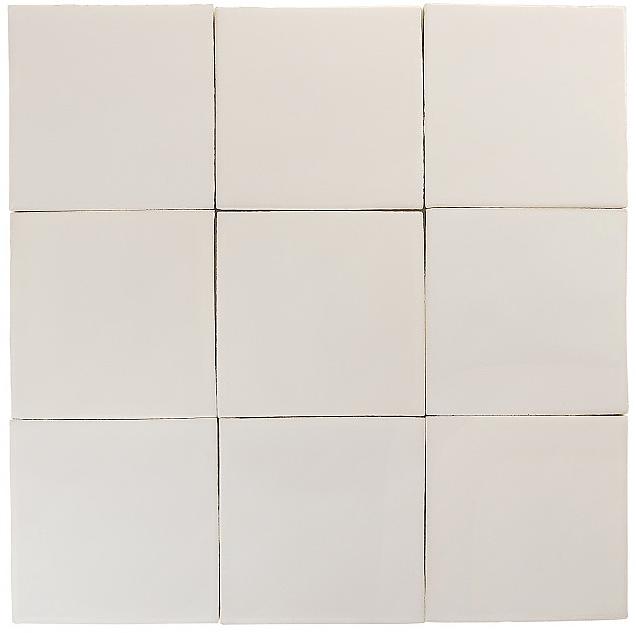 spanish white glazed tiles
